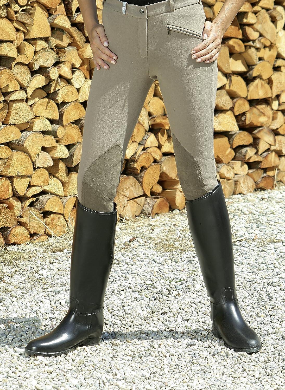 schwarz Covalliero Kerbl Reitstiefel Hippo aus Kunststoff mit Sporenhalterung Gr/ö/ße 37