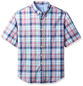 60d0dee9 Image Unavailable. Image not available for. Color: IZOD Men's Big Saltwater  Chambray Short Sleeve Shirt ...