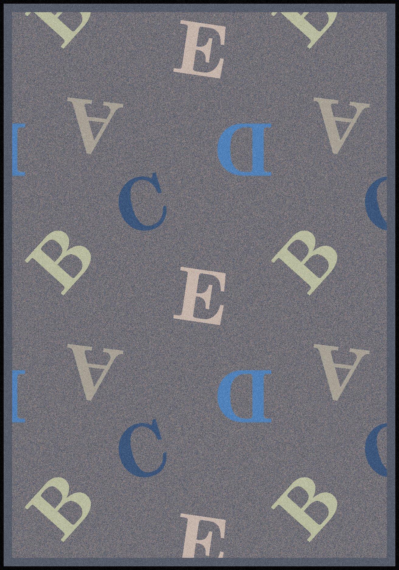 Joy Carpets Playful Patterns Children's Love Letters Area Rug, Seaside, 7'8'' x 10'9''