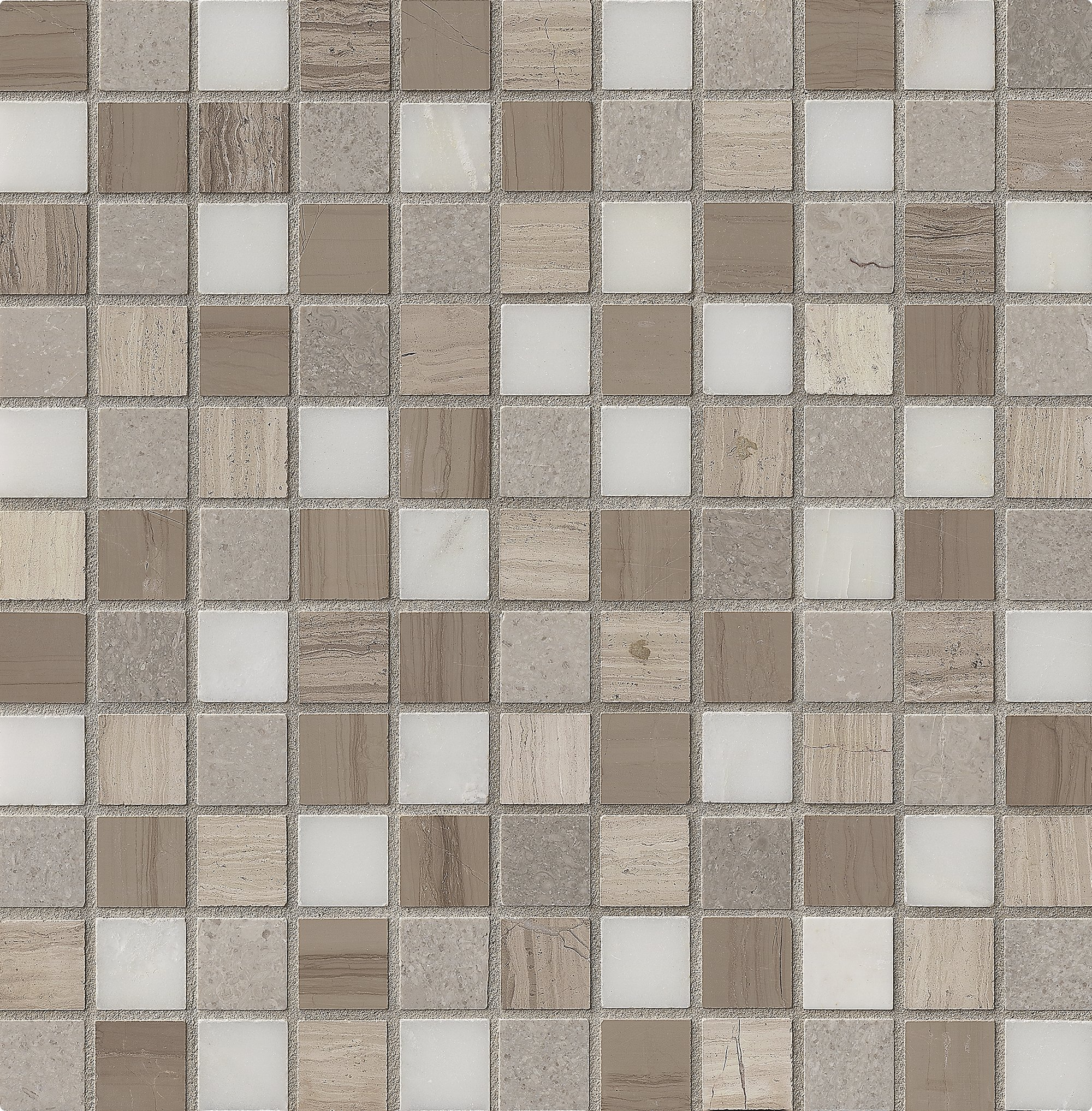 M S International Arctic Storm 1 In. X 1 In. Honed Marble Mesh-Mounted Mosaic Tile, (10 sq. ft., 10 pieces per case)
