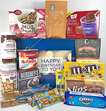 Large Chocolate Lovers Birthday Gift Box Basket Prime Over 55 Lbs Happy Candy Wishes For
