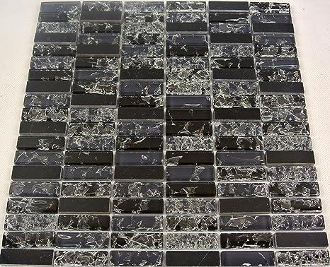 Piastrelle mosaico bagno cucina wc tessere di mosaico nero