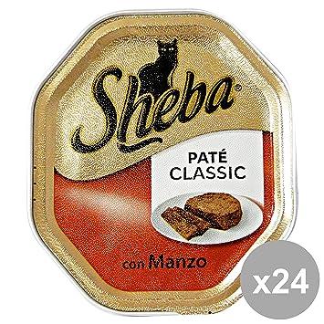 Set 22 SHEBA 85 gr. comida para gatos estofado de ternera Pataz: Amazon.es: Jardín
