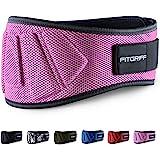 Fitgriff Cinturón de Halterofilia Fitness de cinturón para Culturismo, Entrenamiento, Levantamiento de Pesas y Entrenamiento Crossfit–Cinturón de Entrenamiento para Hombre y Mujer