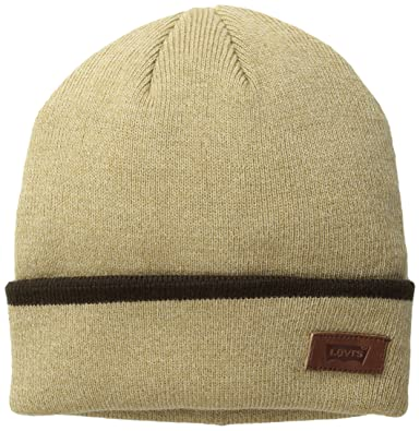 fd6cd6a440c Levi s Men s Max Warmth Beanie with Solid Cuff Tipping Stripe