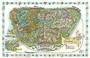 NLopezArt Vintage 1960's Disneyland Map Illustration - Walt Disney Fantasy Theme Park Pop Art Home Decor in Poster Print (11x17 inches) (11x17 inches)