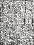 Modern Abstract Vintage 9 feet by 12 feet (9' x 12') Metro Dark Gray Contemporary Area Rug