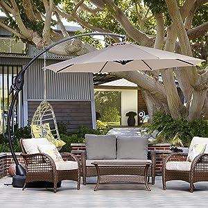 Grand patio Deluxe 10 FT Curvy Aluminum