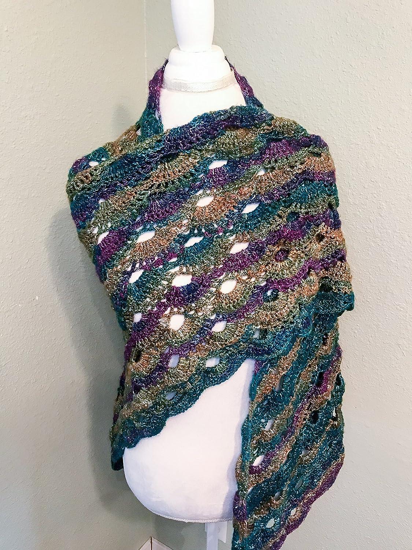 Amazon Crochet Virus Shawl Handmade Triangle Shawl Crochet
