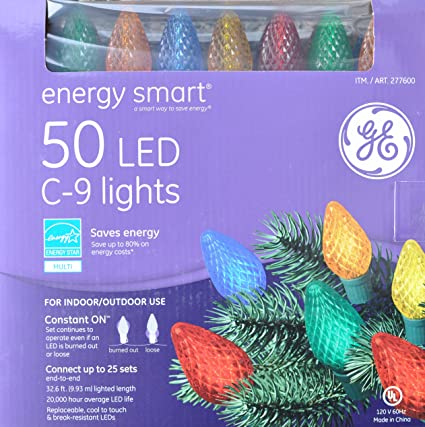 ge staybright 50 christmas led c 9 lights c9