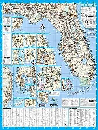 Amazoncom Florida State Laminated Wall Map Poster X - Florida state map