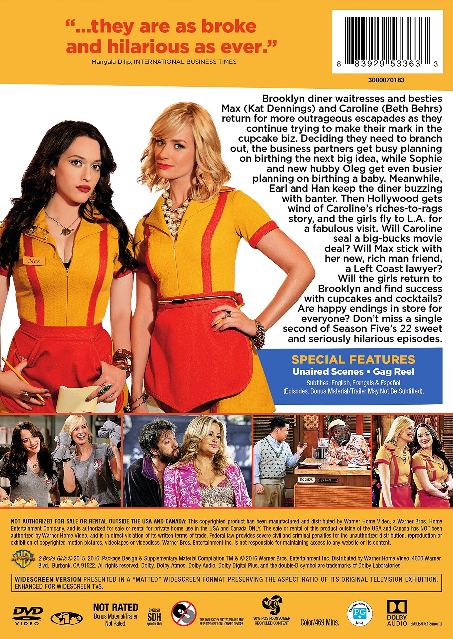 2 Broke Girls: The Complete Fifth Season by Warner Manufacturing