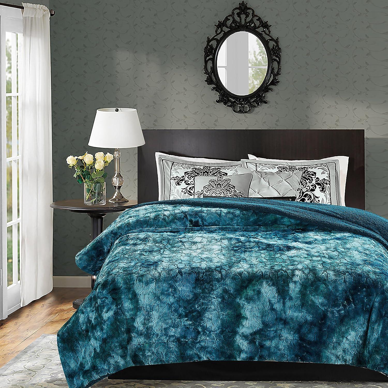 Amazoncom Chanasya Faux Fur Bed Blanket