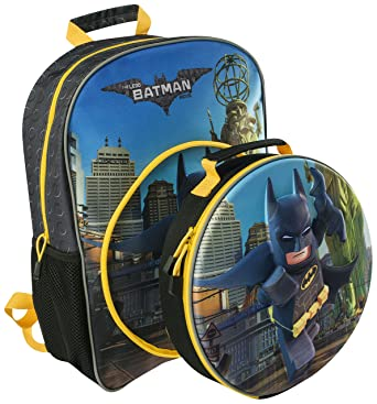 538cbaae3c THE LEGO BATMAN MOVE 3D CHILDRENS LARGE BACKPACK WITH DETACHABLE LUNCH BAG  HOLIDAY TRIPS 8345  Amazon.co.uk  Clothing