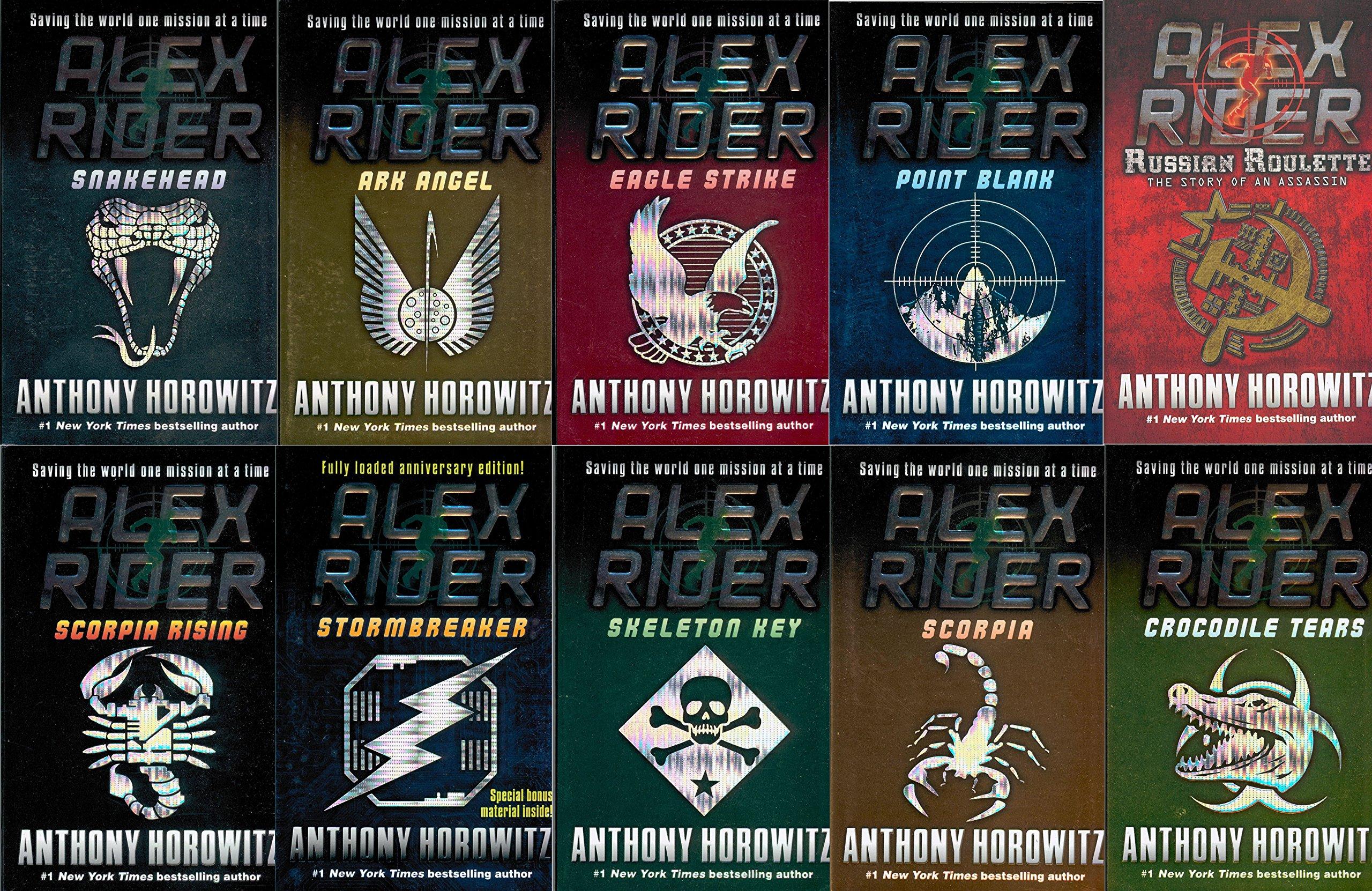 Alex Rider 10 Set Stormbreaker Point Blank Skeleton Key Eagle