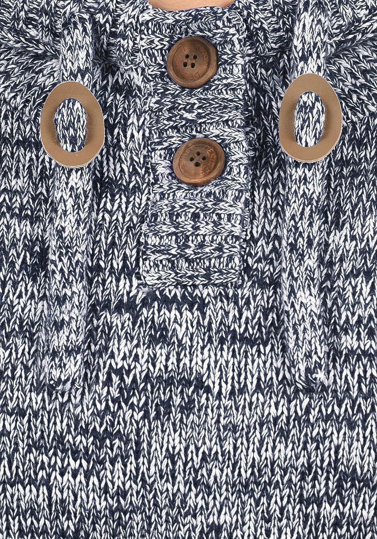 Desires Philaria Pull en Grosse Maille /À Capuche Pull-Over Tricot pour Femme 100/% Coton