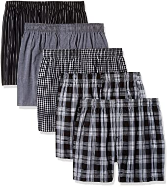 6ed9afd42f79 Gildan Platinum Men's Woven Boxer 5-Pack at Amazon Men's Clothing store: