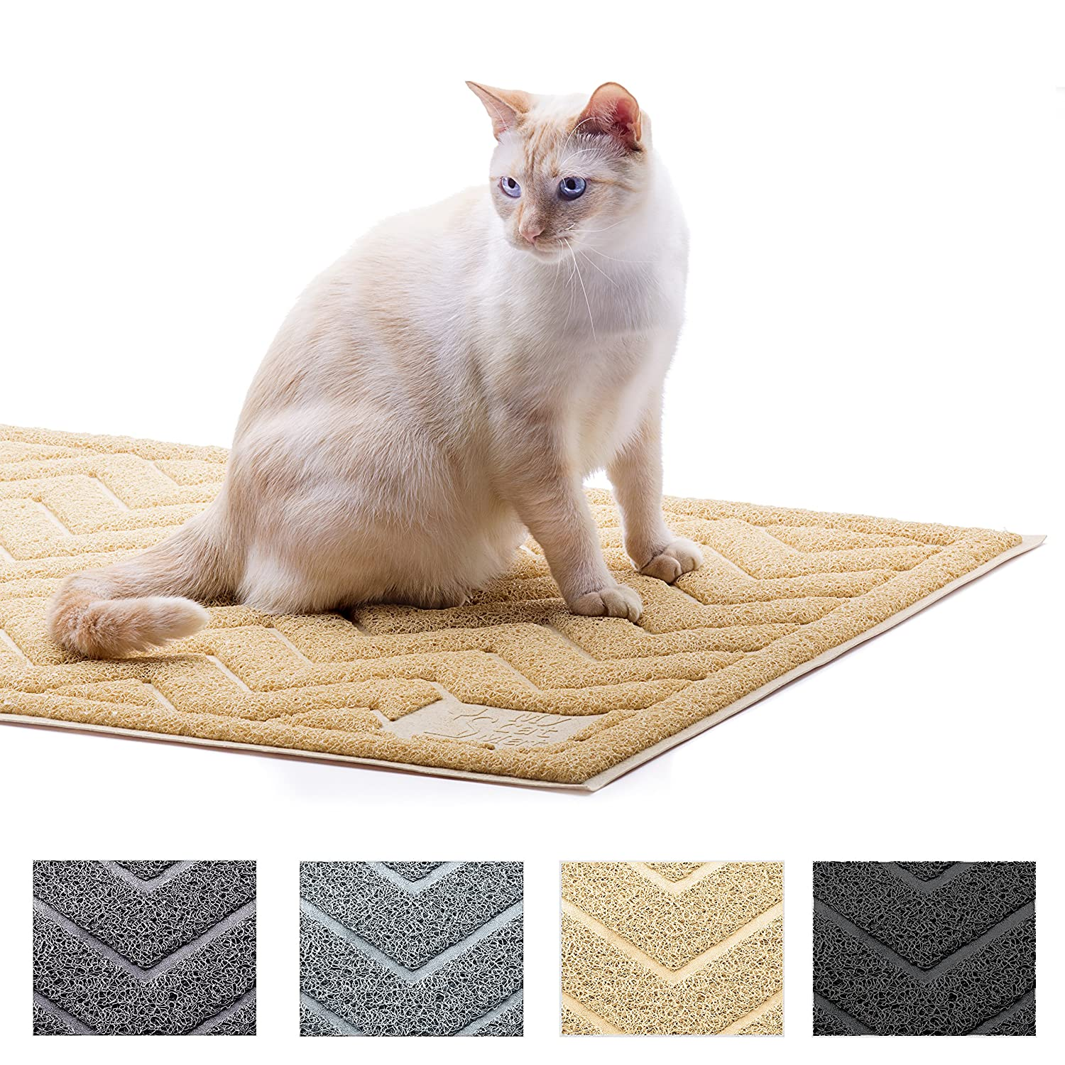 My Cat Mat Cat Litter Mat Traps and Controls Kitty Litter Scatter Large XL Size for Tracking and Trapping Scat from Litter Box Best Easy Clean Catching and Trapper Rug Soft on Paws
