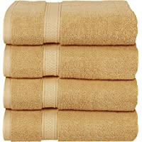 Utopia Towels - Bath Towels Set, Beige - Premium 600 GSM 100% Ring Spun Cotton - Quick Dry, Highly Absorbent, Soft Feel Towels, Perfect for Daily Use (4-Pack)