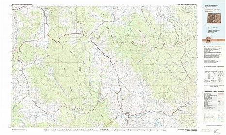Amazon Com Yellowmaps Steamboat Springs Co Topo Map 1 100000