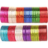 Touchstone Colorful Bangle Collection Indian Bollywood Alloy Metal Rich Textured Matte Finish Colors Bracelets Bangle for Women.