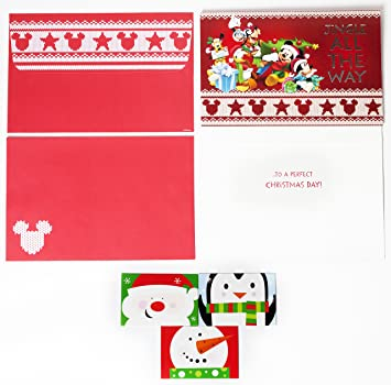 Disney mickey mouse christmas cards box set of 18 holiday greeting disney mickey mouse christmas cards box set of 18 holiday greeting cards with self sealing m4hsunfo