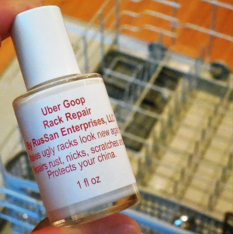 (NEW 1oz size) Uber Goop WHITE Dishwasher Rack Coating/Glue (bottle only)