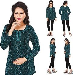 Women Fashion Casual Short Indian Kurti Tunic Kurta Top Shirt Dress 36C