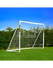 FORZA 2,4m x 1,8m But de Football PVC Imperméable avec Système de Verrouillage – Mur de Tir Optionnel [Net World Sports]