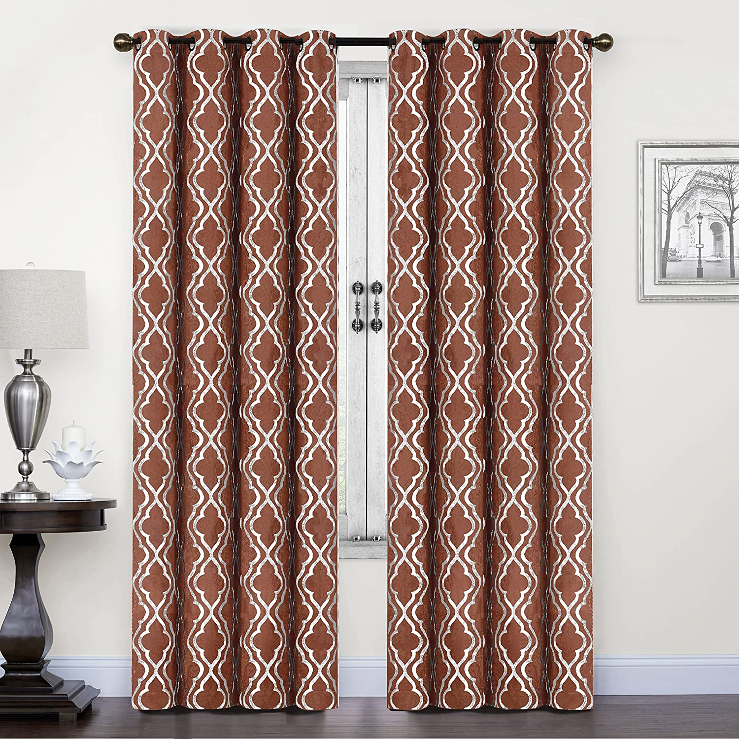 SUO AI TEXTILE Suede Like Treatment Room Darkening Thermal Insulated Grommet Window Curtains 2 Panels (37x84,Aqua) FUMILY