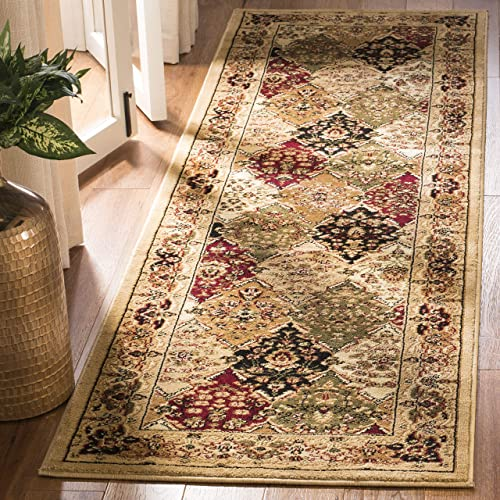 Safavieh Lyndhurst Collection LNH221C Traditional Multi and Black Runner 2 3 x 12