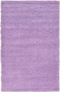 unique loom solid shag collection lilac 5 x 8 area rug 5u0027 x 8