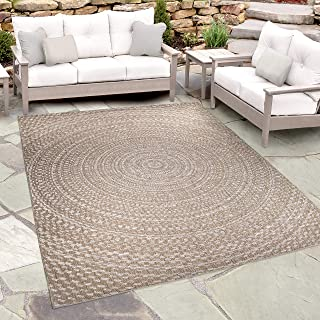 """product image for Orian Rugs Breeze Indoor Cerulean Arctic Blue Area (6'4"""" x 9'6"""") Outdoor Rug Gray/Brown"""