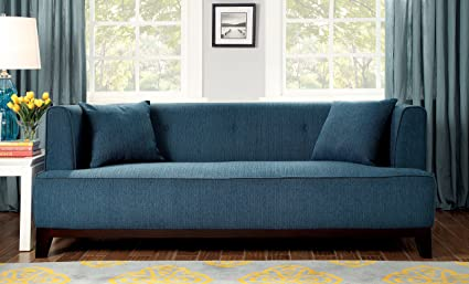 Furniture Of America Elsa Neo Retro Sofa, Teal
