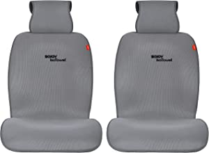 Sojoy Universal Four Season Fashionable Car Seat Cushion Cover for Front of 2 Seats 2.0 New Version (Dark Gray)