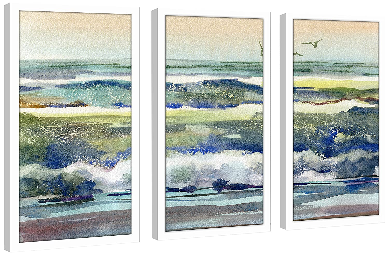 Picture Perfect International H2O 3 Framed Plexiglass Art Set of 3 Wall-Decor 17.5 W x 33.5 H x 1 D