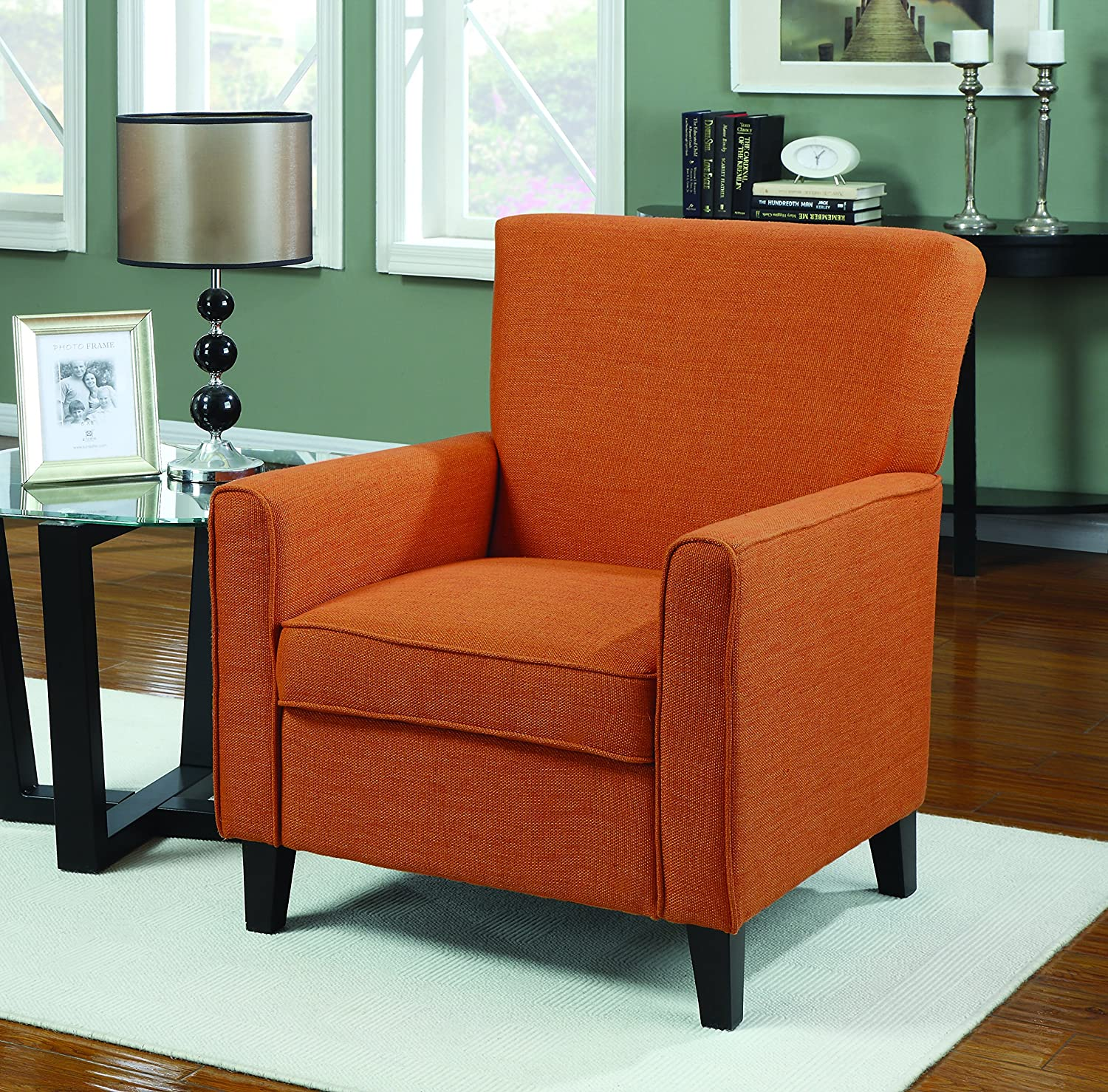 Orange Chairs Living Room Amazoncom Coaster Home Furnishings Casual Accent Chair Orange
