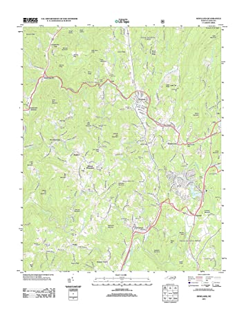 Amazon Com Topographic Map Poster Newland Nc Tnm Geopdf 7 5x7 5