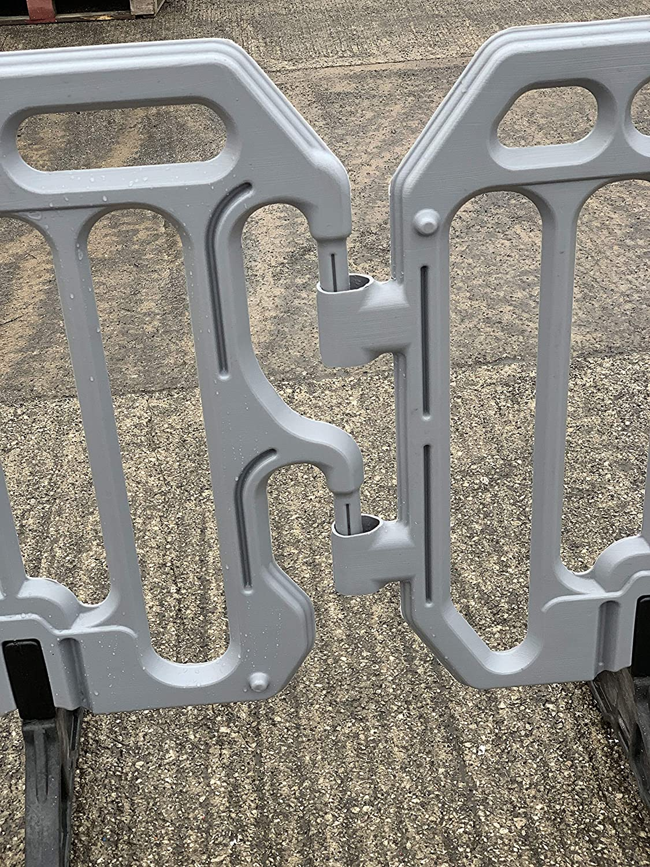 Grey Plastic Crowd Control Barrier 2 Metre