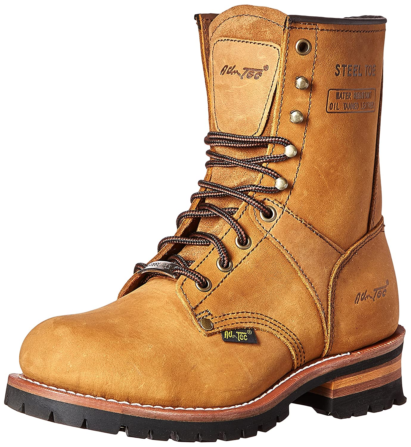 AdTec Men's 9 Inch Steel Toe Logger Boot, Brown, 10 M US B003QYAPGQ
