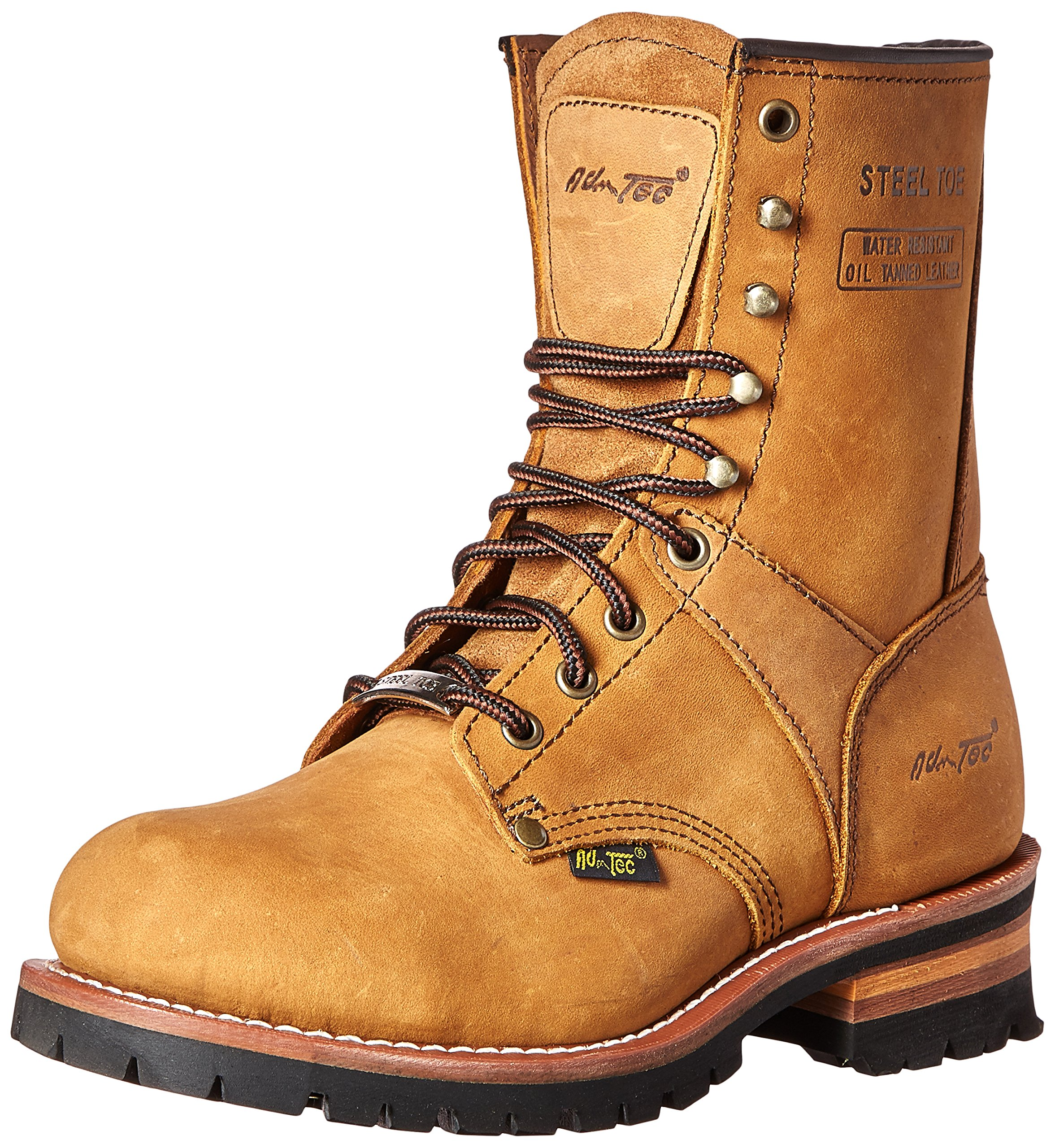 Adtec Men's 9 inch Steel Toe Logger Boot, Brown, 12 M US