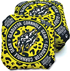 ACL Approved Cornhole Bags Regulation Size 16 Oz. Cornhole Bean Bags for Cornhole Toss Game. Professional Cornhole Bags Slick and Stick Sides, ACL Stamped Corn Hole Beans Bags