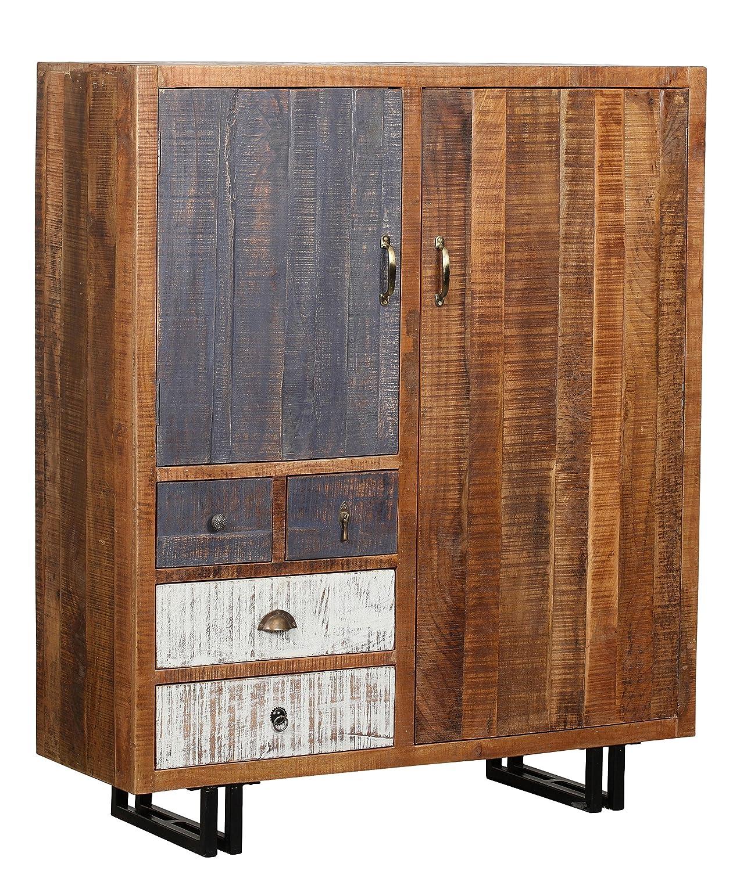 The Wood Times Kommode Schrank Massiv Vintage Look Rustic Mangoholz