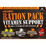 Grenade Ration Pack, Multi-Vitamins with added Probiotics and BCAAs to support High-Intensity Training, 30 Count