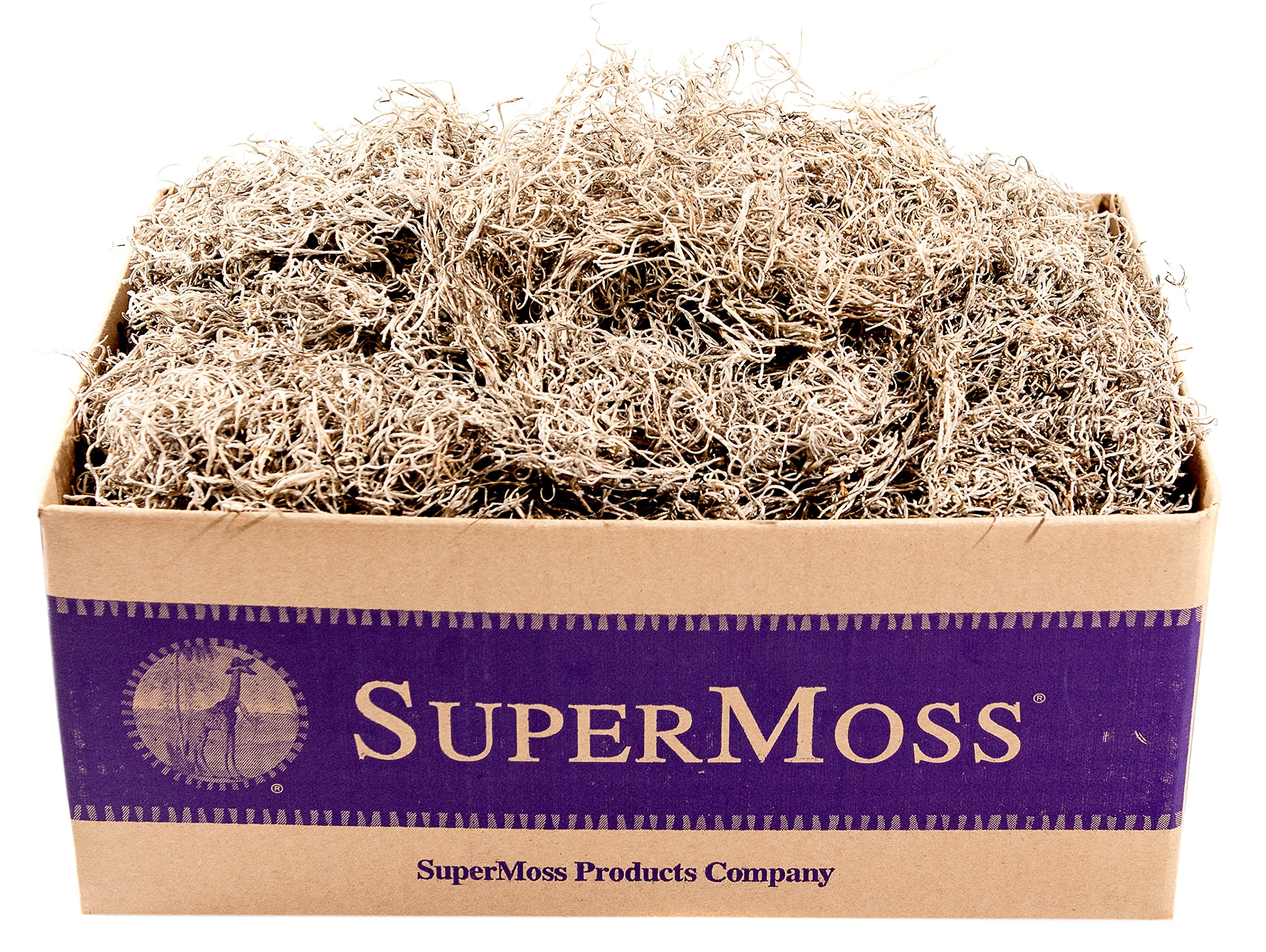 SuperMoss (26926) Spanish Moss Dried, Natural, 3lbs