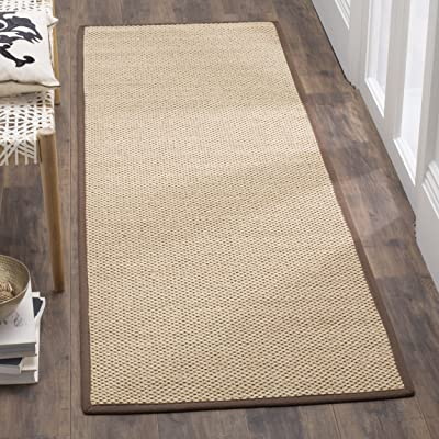 """Safavieh Natural Fiber Collection NF141C Tiger Paw Weave Maize and Brown Sisal Area Rug (2'6"""" x 4')"""