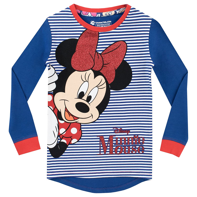 Disney Pigiama a Maniche Lunghe per Ragazze Minnie Mouse Vestibilitta Stretta