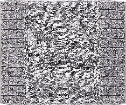 Linea Due Chess Alfombra de Baño, Algodón, Plata, 50x60 cm: Amazon ...