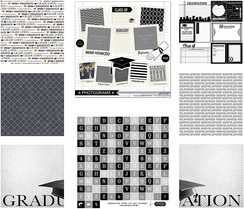 Reminisce TGR-203 The Graduate 2018 Scrapbook Collection Kit Multi Color Palette