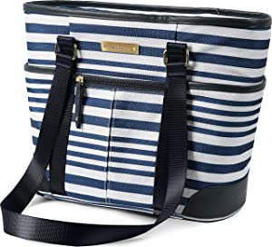 Arctic Zone Insulated Lunch Bucket Tote - Gazebo Stripes, Blue